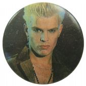 Billy Idol - 'Billy Black' Button Badge